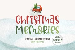 Christmas Memories - A quirky handwritten font Product Image 1