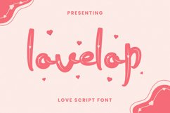 Lovelop Font Product Image 1