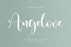 Angelove - Handwritten Script Font Product Image 1