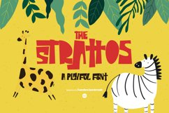 The Strattos - A Playful Font Product Image 1