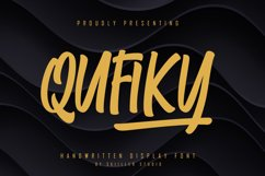 Qufiky Handwritten Display Font Product Image 1