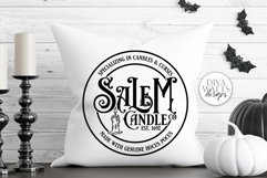 Salem Candle Co SVG | Halloween Witch Round Design Product Image 3