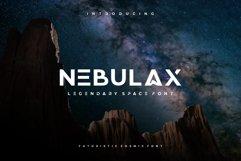 NEBULAX - futuristic modern font Product Image 1