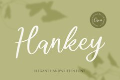 Hankey - Elegant Handwritten Font Product Image 1