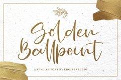 Golden Ballpoint   A STYLISH FONT Product Image 1