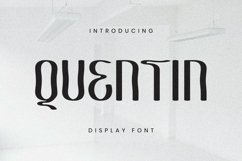 Quentin Font Product Image 1