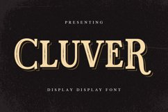 Cluver Font Product Image 1