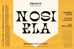 NOSIELA Font Product Image 1