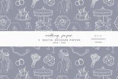 Blue Wedding Digital Paper Product Image 2