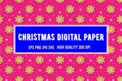 Christmas Snowflakes Seamless Pattern | Christmas paper Product Image 1
