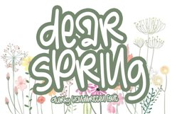 Dear Spring - Quirky Handwritten Font Product Image 1