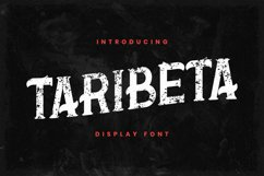 Taribeta Font Product Image 1