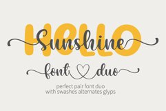 Hello Sunshine - A perfect pair font duo Product Image 1