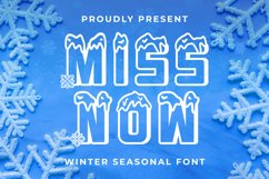 MISSNOW Font Product Image 1