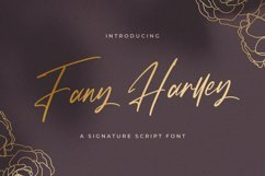 Fany Harlley - Handwritten Font Product Image 1