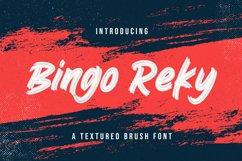 Bingo Reky - Textured Brush Font Product Image 1