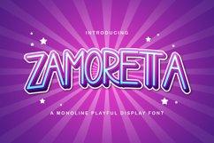Zamoretta - Playful Display Font Product Image 1