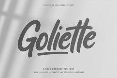 Goliette   Bold Handwritten Font Product Image 1