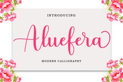 Aluefera Script Product Image 1