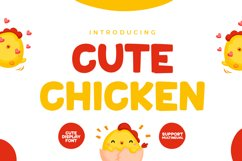 Cute Chicken - Cute Display Font Product Image 1