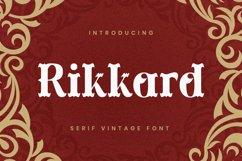 Rikkard Font Product Image 1