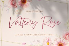 Vatteny Rose - Signature Script Font Product Image 1