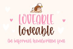 Loveable-An informal handwritten font Product Image 1