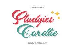 Studyies Cardlie Font Product Image 1