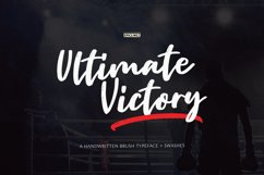 Ultimate Victory - A Handwritten Script Font Product Image 1