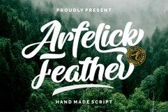 Arfelick Feather -Handmade Script Product Image 1