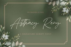 Asthacy Reny - Handwritten Font Product Image 1
