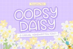 Oopsy Daisy Casual Handwritten Font Product Image 1