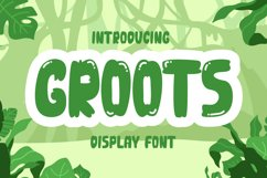 Groots - Quirky Display Font Product Image 1