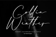 Collin Weather   Handwritten Font Product Image 1