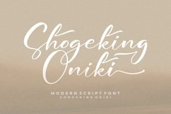 Shogeking Oniki - Modern script Font Product Image 1