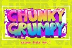 CHUNKY GRUMPY cartoon display font Product Image 1
