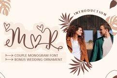 Couple Monogram Font & Wedding Ornament Product Image 1