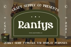 Rantys - Quirky Serif Product Image 1