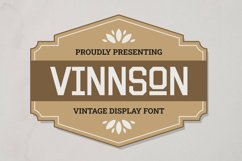 Vinnson Font Product Image 1