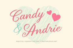 Candy & Andrie Font Product Image 1