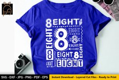 8th Birthday SVG- I am 8- Eight Birthday SVG DXF EPS PNG Product Image 1