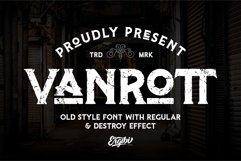 Vanrott - Old Style Font Product Image 1