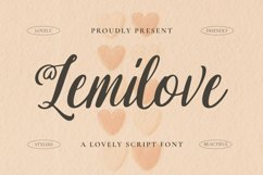 Lemilove Font Product Image 1