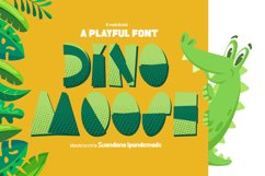Dino Moose - a Playful Font Product Image 1