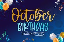 October Birthday Product Image 1