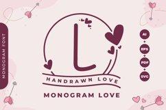 Monogram Handrawn Love Product Image 1
