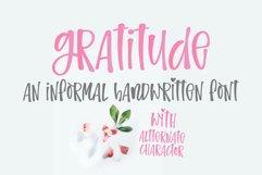 Gratitude- An informal handwritten font Product Image 1