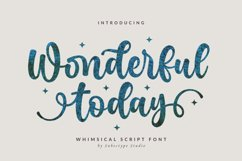 Wonderful Today - A Whimsical Script Font Product Image 1