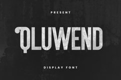 Qluwend Font Product Image 1