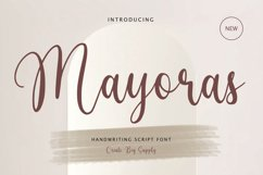 Mayoras - Handwriting Script Font, Cricut font, silhouette Product Image 1